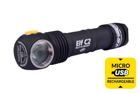 Мультифонарь светодиодный Armytek Elf C2 Micro-USB+18650, 1050 лм, аккумулятор