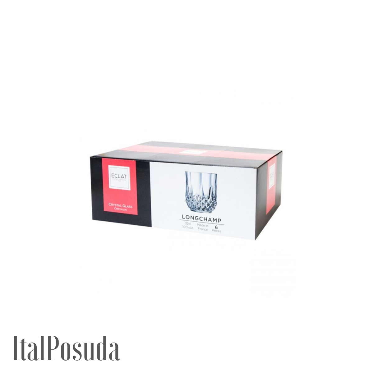 Набор стаканов Eclat Cristal d'Arques Longchamp (Лонгшамп), 6 шт L7555