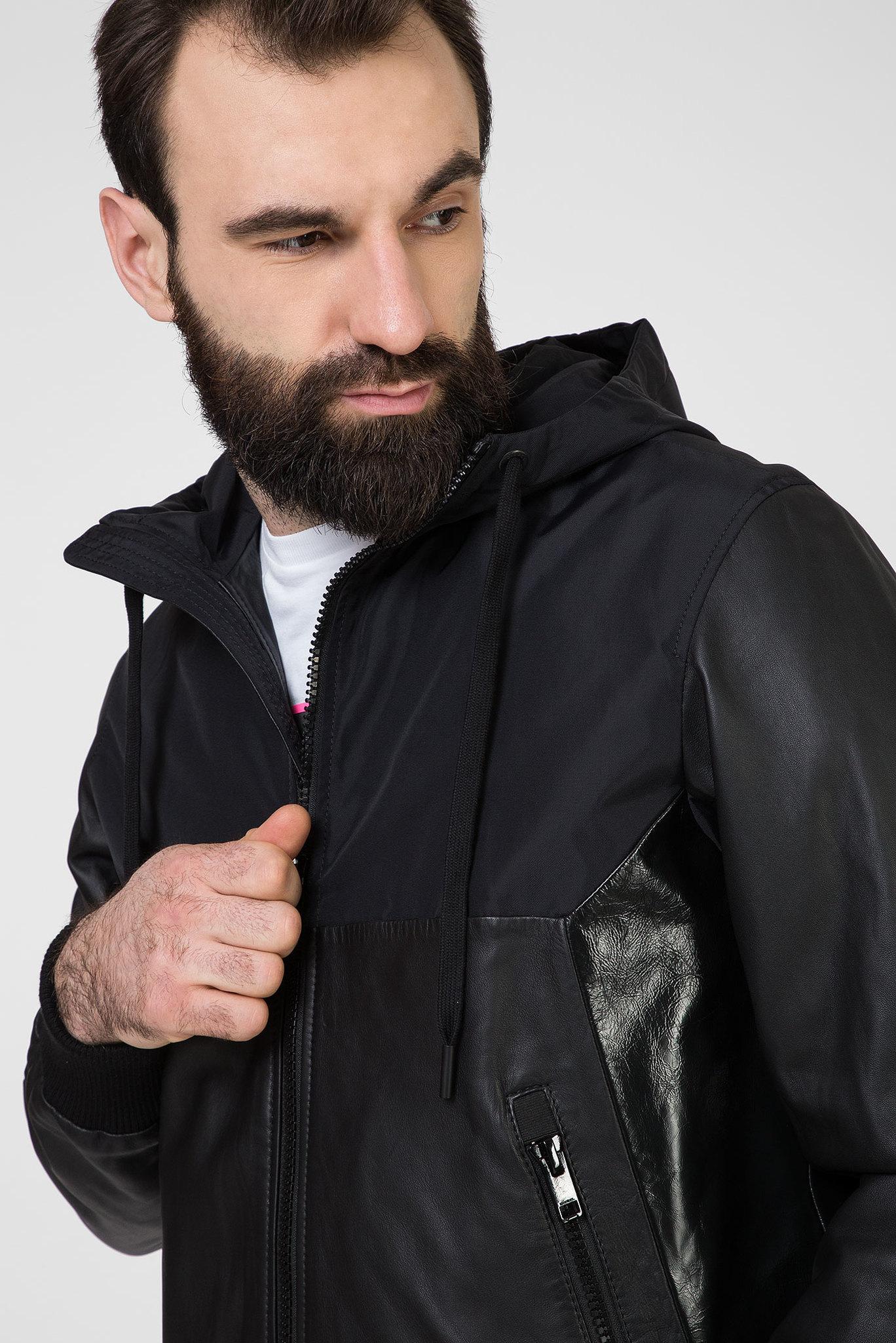 Мужская черная кожаная куртка L-CARRS Diesel