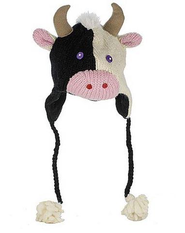 Картинка шапка с ушами Knitwits Calvin the Cow