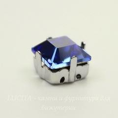 4428/S Сеттинг - основа Сваровски для страза 8х8 мм (цвет - античное серебро)