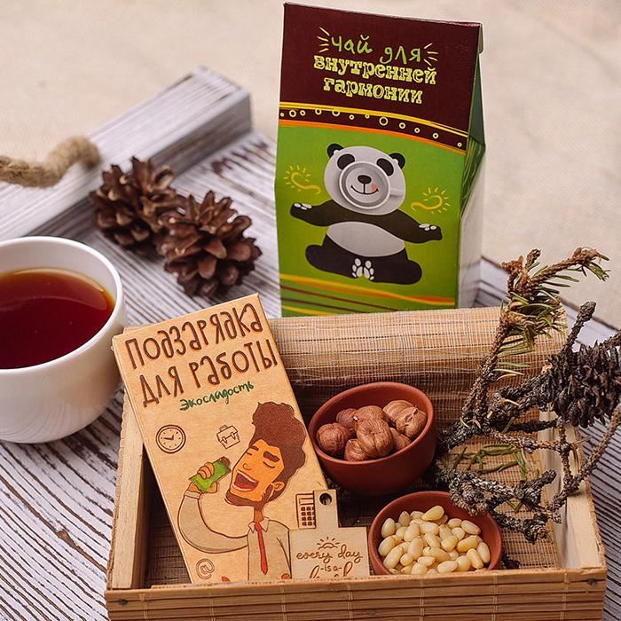 Купить набор подарочный универсальный чай и натуральный эко шоколад в Перми