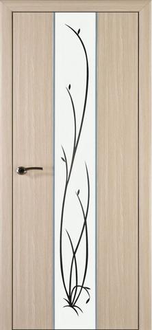 Дверь Галант (белое зеркало) (дуб Неаполь, зеркало ПВХ), фабрика ДверноВ