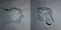Украшение для волос № 7 - Бант-резинка Белый