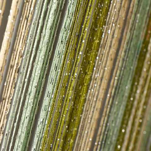Шторы радуга дождь - Шампань, салатовые, оливковые. Ш-300см., В-280см. Арт. 13-15-19