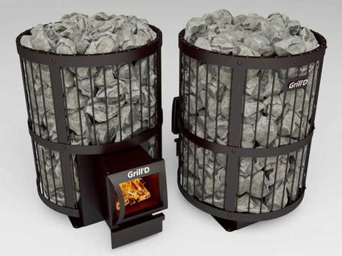 Печь банная Grill'd Leo 130 Long grey + Подарок!