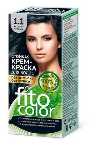Фитокосметик Fito Color Стойкая крем-краска для волос тон Иссиня-черный 115мл