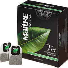 Чай Maitre Классический зеленый 100 пакетов