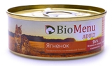 BioMenu CAT ADULT Консервы для кошек мясной паштет с Ягненком 95%-МЯСО 1х100 г.