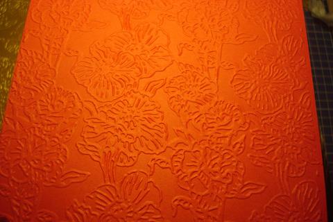 Бумага с тиснением Цветы