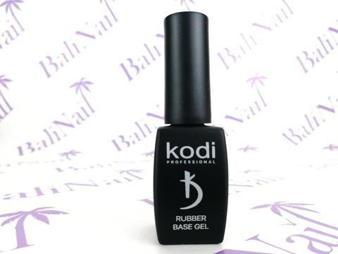 KODI, Черная «Каучуковая» база с кисточкой Rubber base Gel Black, 8 мл