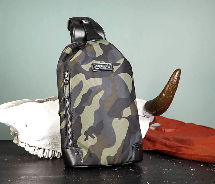 BAG489-3 Тканевая мужская сумка «банан» с одной лямкой