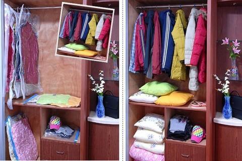 70*100 см с вешалкой вакуумный пакет для одежды