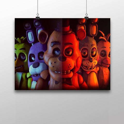 Плакат с героями ФНАФ №2