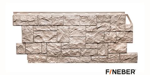 Фасадная панель Fineber Камень дикий песочный 1117х463 мм