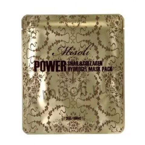Misoli power snail & collagen hydrogel mask pack  Маска для лица гидрогелевая 1 шт