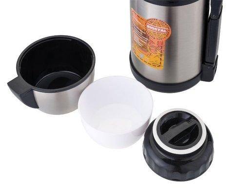 Термос универсальный (для еды и напитков) Biostal Спорт (1 литр) с ручкой, стальной