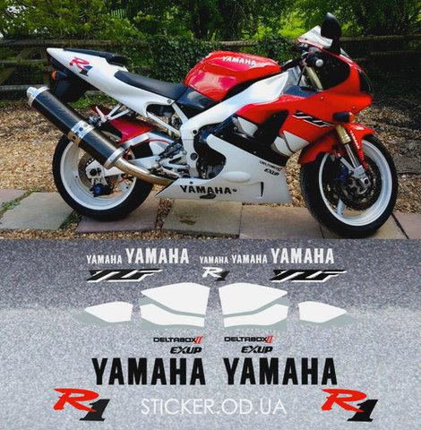 Набор виниловых наклеек на мотоцикл YAMAHA YZF-R1 1999