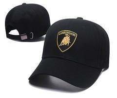 Кепка с вышитым логотипом Ламборгини (Бейсболка Lamborghini) черная