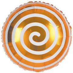 К Круг Леденец Спираль, Оранжевый, 18''/46 см, 1 шт.