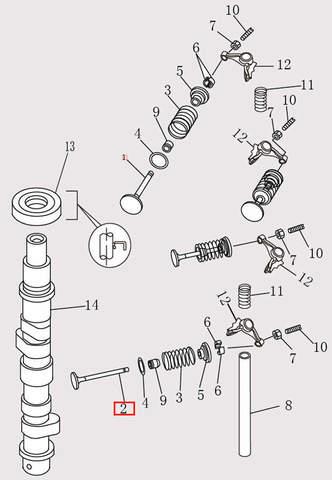 Выпускной клапан для лодочного мотора F9.8 Sea-PRO (4-2)