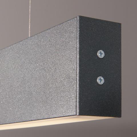 Линейный светодиодный подвесной односторонний светильник 128см 25Вт 6500К черная шагрень 101-200-30-128