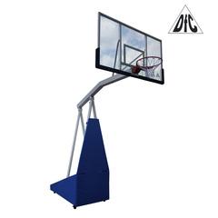 """Мобильная складная баскетбольная стойка, клубная STAND72G PRO (щит 72"""" (180х105 см) закаленное стекло 12мм.)"""