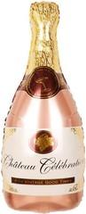 К Фигура, Бутылка Шампанское, Розовое Золото, 36''/91см.