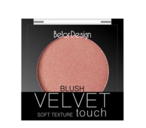 BelorDesign Румяна для лица Velvet Touch тон 101 нежный персик