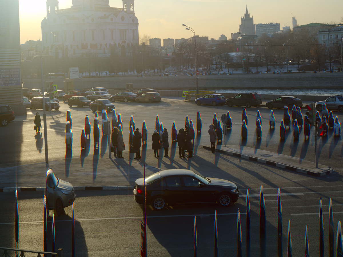 Cathedral of the Christ the Savior. Moscow Traffic