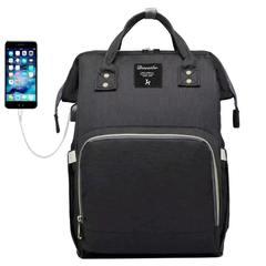 Mommy Bag. Сумка-рюкзак для мамы, черный вид 1