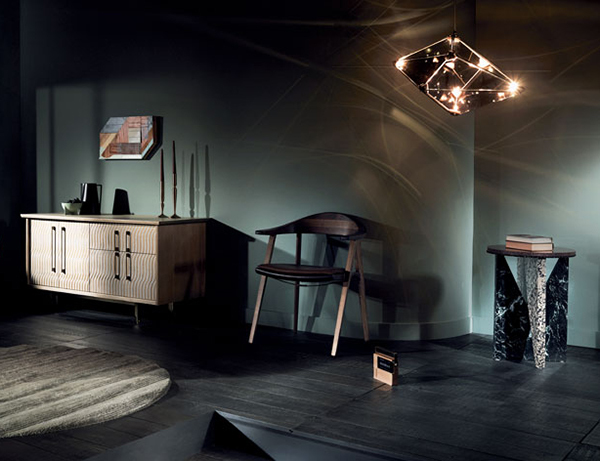 Подвесной светильник копия Maxhedron Horizontal by Bec Brittain (дымчатый)
