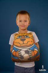 Подушка-игрушка антистресс «Медведь-футболист» 2