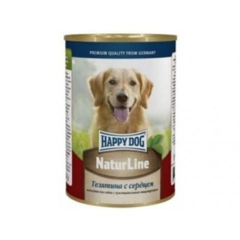 Happy Dog NaturLine для взрослых собак. Телятина с сердцем 400г 1 шт