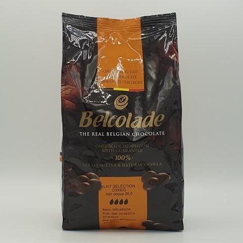 Шоколад молочный BELCOLADE 35%, 1 кг