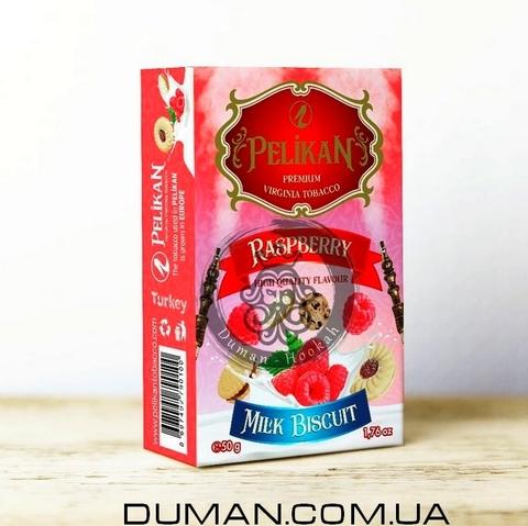 Табак Pelikan Raspberry Biscuit Milk (Пеликан Молочно-Малиновый Бисквит)