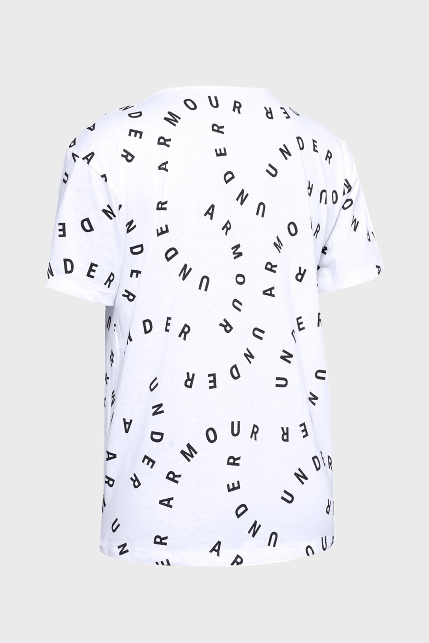 Женская белая спортивная футболка UA Logo Print Live SS Under Armour