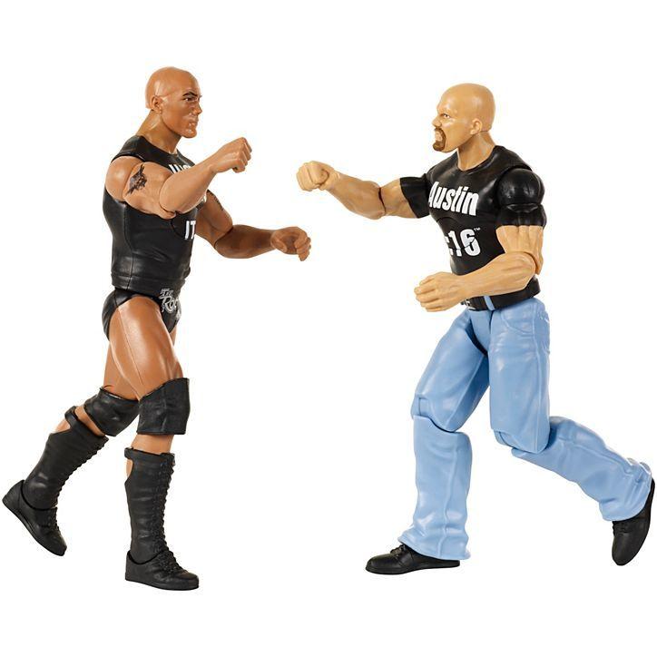WWE Интерактивные фигурки Рестлеров Стив Остин и Скала