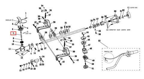 Вал гребной  для лодочного мотора T2 SEA-PRO