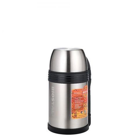 Термос универсальный (для еды и напитков) Biostal Спорт (1,2 литра) с ручкой, стальной