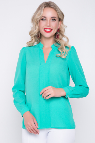 <p><span>Изящная блузка классического стиля с длинным рукавом. Гармонично сочетается с множеством фасонов брюк и юбок..Длина изделия:44-62 см. 46-63 см. 48-64 см. 50-65 см. Длина рукава : 44р.-52р 60 см</span></p>