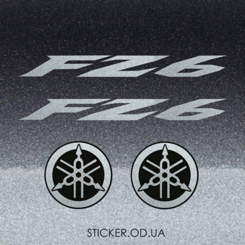 Набор виниловых наклеек на мотоцикл YAMAHA FZ6