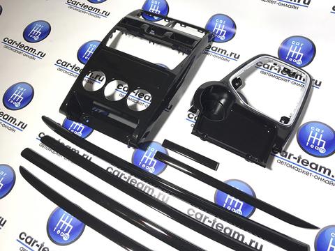 Комплект накладок панели на Лада Приора 2, черный лак