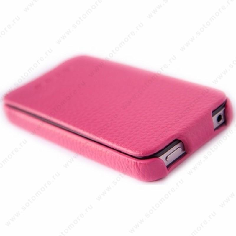 Чехол-флип HOCO для iPhone 4s/ 4 - HOCO Duke Leather Case Rose Red