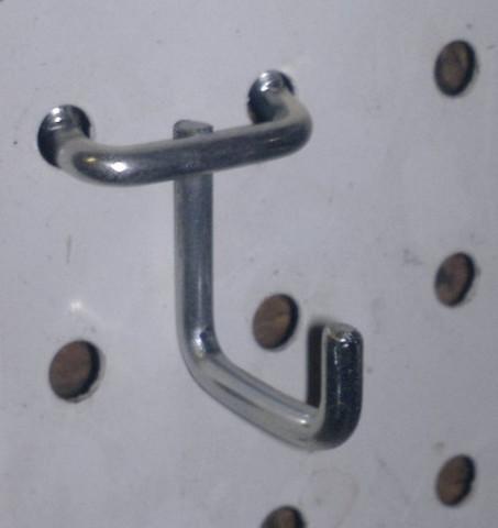 Мини J образные крючки для инструментов (5 шт) 25 мм  на металлическую перфопанель