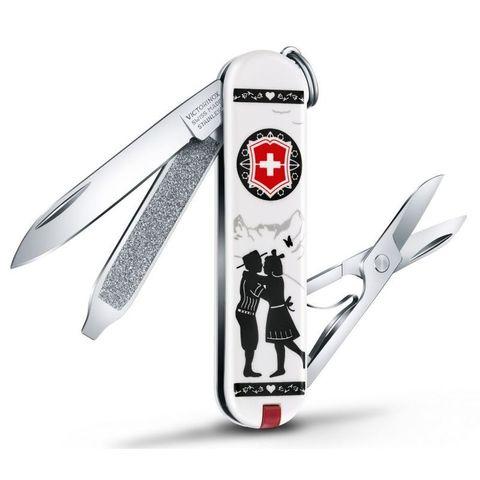 Нож перочинный Victorinox Classic (0.6223.L1801) Alps Love 58мм 7функций белый
