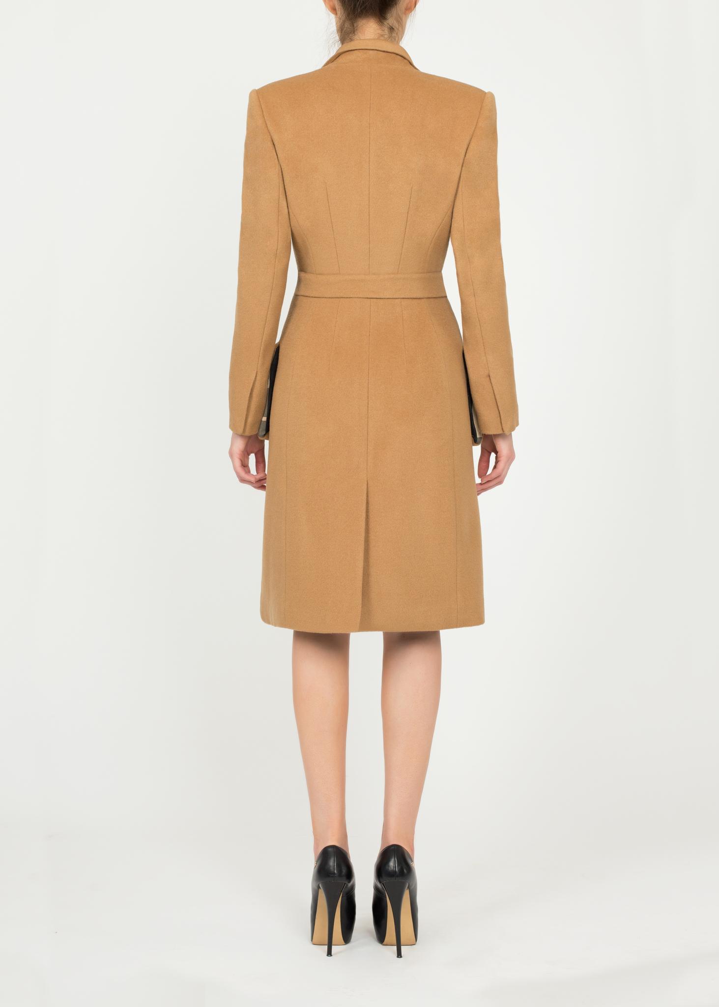 Пальто из шерсти с кашемиром