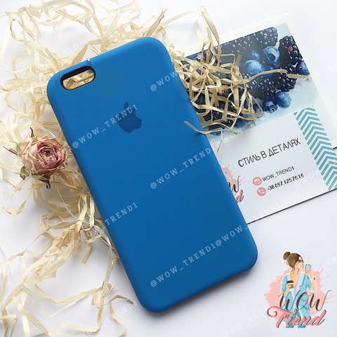 Чехол iPhone 6+/6s+ Silicone Case /royal blue/ ярко-синий original quality