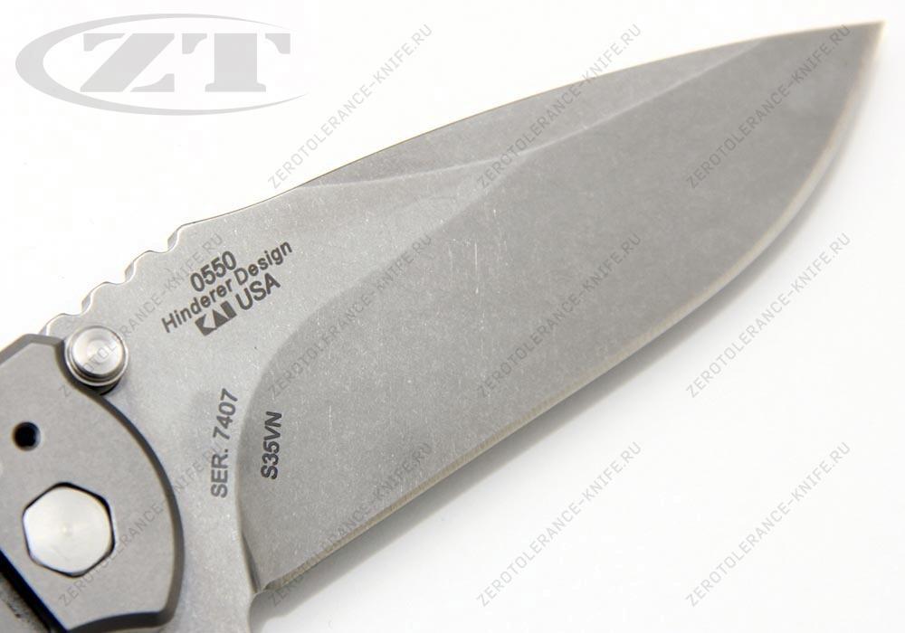 Нож Zero Tolerance 0550 GEN3 HINDERER - фотография