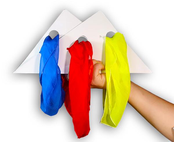 Цветные платки связываются за миг